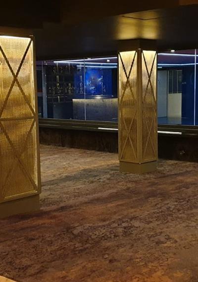 Cloison fixe vitrée coupe feu bord à bord