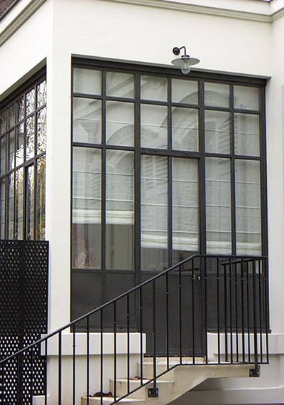 Villa acier à Paris ©Glass'Inov